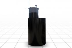 Кессон круглый диаметр 1,1 м., высота 2,15 м. (S4)