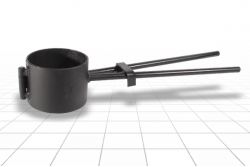 Хомут для труб ПВХ, ПЭ 125 мм.