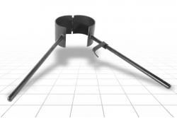 Хомут для труб ПВХ, ПЭ 160 мм
