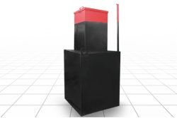 Кессон прямоугольный, основание 1х1 м., высота 2,15 м. (S4)