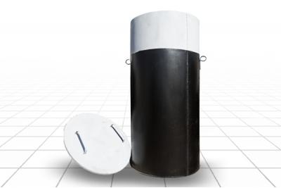 Кессон круглый диаметр 1 метр, высота 2 м. (S5) (бочка)